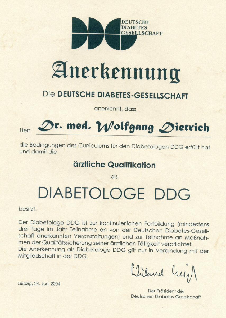 Diabetologe DDG